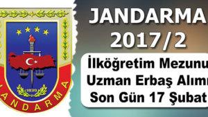 2017 Yılı Jandarma Sözleşmeli Uzman Erbaş Alımı