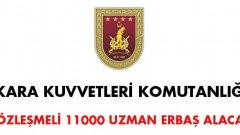 Kara Kuvvetleri Komutanlığı 11 Bin Uzman Çavuş Alacak !
