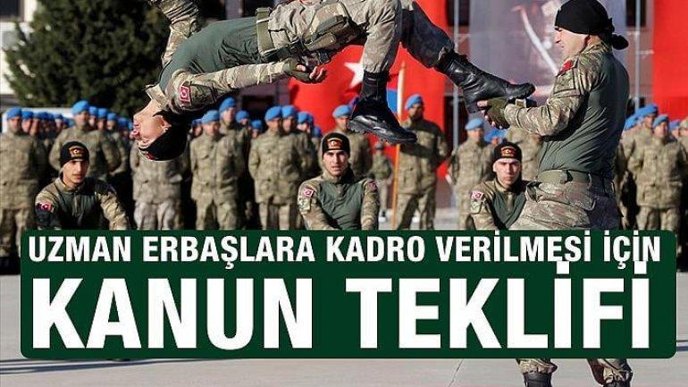 Uzman Erbaşlara Kadro Teklifi TBMM'ye Sunuldu