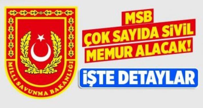 MSB DEVLET MEMURU ALIMLARI DEVAM EDİYOR SON 5 GÜN!