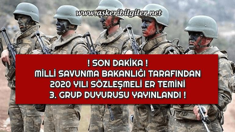Kara Kuvvetleri  Komutanlığı Sözleşmeli Er Duyurusu Yayınlandı !